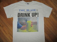 TOLEDO BLADE NEWSPAPER WATER CONTAMINATION T SHIRT Ecology Flint Environment MED