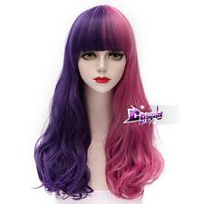 Lolita Pink Mixed Purple Long 65CM Wavy Hair for Melanie Martinez Harajuku Wig