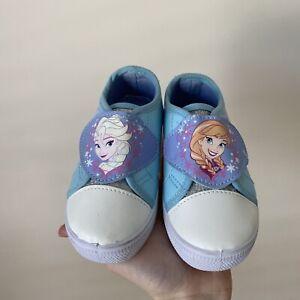 DISNEY FROZEN Toddler Girls Shoes   Sneakers   Size 6   Blue & Glitter