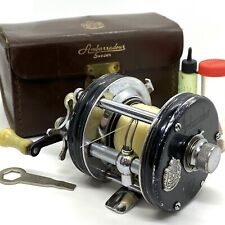 Rare - ABU GARCIA AMBASSADEUR Fishing Reel W/ Leather Case - 5000-C - 3 SCREW