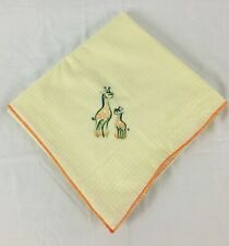 """New listing Yellow Giraffe Blanket Mother and Baby 42"""" x 45"""""""