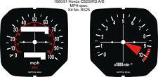 HONDA CB 250 CB250 RS CB250RS SPEEDOMETER TACHO REV COUNTER GAUGE FACES