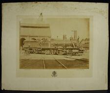 Photographie locomotive ORIZABA Ateliers à det ? c1880 Courthéoux Steam Train