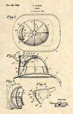 Original Firefighter Helmet US Patent Art Print- Vintage Antique Fire Cairns 393
