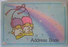 LITTLE TWIN STARS KIKI & LALA ADDRESS BOOK VINTAGE 1976 SANRIO CUTE KAWAII