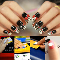 HOT! 2PC LED Light Flash Women DIY Phone Party Decor NFC Nail Art Tips Stickers