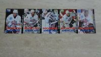 1998-99 Pepsi Rochester Americans AHL Hockey Strip of 5 Cards #s 1 to 5 - Biron