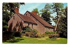 Long Island Thompson House Postcard New York Setauket Historian Dr Benjamin