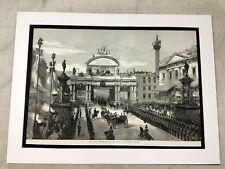 Antique Print Queen Victoria Royal Procession London Bridge 1868 LARGE Victorian
