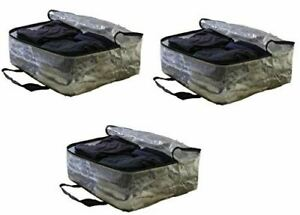 Extra Large Clear Storage Bag Moving Totes for Clothing Storage (Set of 3)