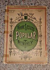 Vintage Magazine FRANK LESLIE'S POPULAR MONTHLY Jan 1884 illustrated