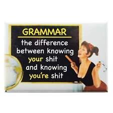 Know Your Grammar Fridge Magnet Funny Decor Retro Novelty Gift Kitsch Humour