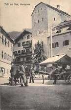 Zell am See Austria Marketplace Antique Postcard J41294