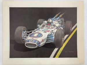 Indy 500 1966 Mario Andretti #1 Print Of Ron Burton Original By Jerry Kenrick A1