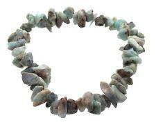 Larimar Gemstone Crystal Healing Chip Bracelet