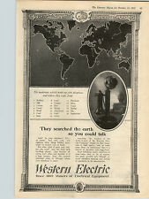 1922 Paper Ad Western Electrical Equipment Telephone Materials List