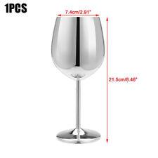614d1c6e092 2Pcs 500-600ml Shatterproof 304 Stainless Steel Wine Glasses Goblets Copper  Hot