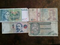WORLD PAPER MONEY 1991 ROMANIA 1000 LEI + 3 *BANK NOTES* Collectibles