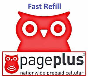 Page Plus Cellular Monthly Plan $55 Refill  (Direct Load to Phone) 1-24 hours