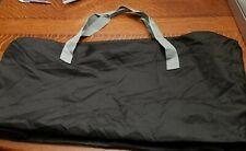 "Duffle Bag - Gym Bag Equipment Travel Overnight Bag - Black &Gray 12""X12""X30"""