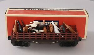 Lionel 1877 Vintage O General Flatcar with Horses/Box
