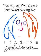 Beatles John Lennon Imagine  t-shirt white