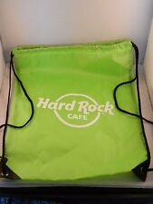 """HARD ROCK CAFE DRAW-STRING LIME GREEN BACKPACK """"NEW"""" 18"""" X 13"""""""