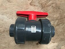 kbi 2.5 inch true union ball valve PVC schedule 80 new old stock tbut-2500-e