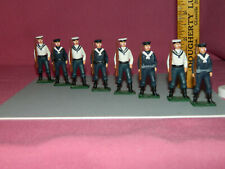 Metal WWI SAILORS X8 - Hand Painted - Unknown Brand - See Pictures