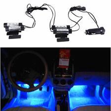 4 pezzi 3-LED blu Neon Luci lampadine per auto interno GHIERE ACCENDISIGARI