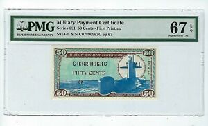 50 Cent Military Payment Certificate : PMG 67 EPQ  Series 681