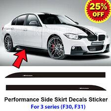 2pcs M Performance Side Skirt Sill Decal Stripe Sticker for BMW 3 Series F30 F31