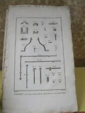 Vintage Print,TOURNEUR,Diderot Occupations,Machinery,c1770-80,Turners