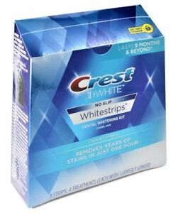 Crest 3D 8 x 1 Hour Express Teeth Whitening Strips White (4 Pouches) Sealed Box