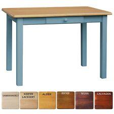Blau Esstisch MIT SCHUBLADE Küchentisch Tisch MASSIV KIEFER HOLZ  NEU HERSTELLER