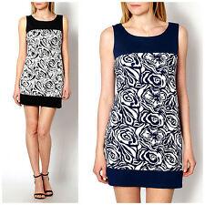 Geblümte ärmellose Mini-Damenkleider für Clubwear-Anlässe