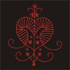 Voudou vodun voodoo Erzulie love magic heart veve red vinyl decal sticker