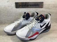 Men's Jordan Zoom '92 USA Basketball Shoes White/Red/Obsidian CK9183-101 Size 9