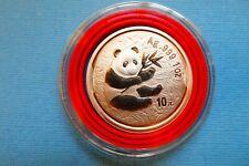 "China, 10 Yuan, ""Panda"", 2000, 1 OZ Silber, original"