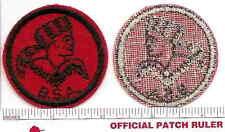 Old BSA  FELT Patrol Patch -  FRONTIERSMAN - B&W Thread Back