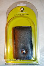 Motorola V3 Razr V3i Leather Fitted Slide in Case Pocket Pouch - Retail Boxed