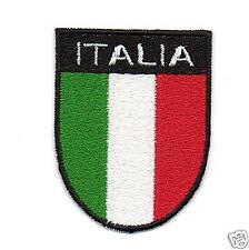 PATCH RICAMO TOPPA SCUDETTO ITALIA CON SCRITTA BANDIERA