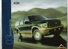 Mint  Condition 2003 FORD EXCURSION I BROCHURE 03