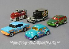 MATCHBOX 2004 Around the World 5 Car Set Chevy VW Ford SUV Fire Ext Mail-in RARE
