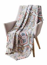 Bohemian Velvet Fleece Throw Blanket Soft Plush Decorative Paisley Patterned