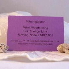 Personalised Coloured Business Cards for Crafters Stall Informaion Address etc