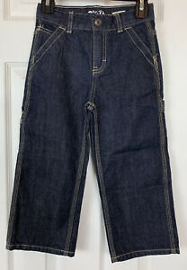 New B'gosh Carpenter Jeans 4T Dark Wash Contrast Stitching Toddler Boys Pants