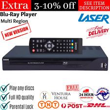 Multi Region Free Blue Blu Ray Player CD Disc HDMI USB Portable DVD 1080p Laser