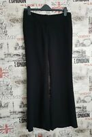French Connection Black Bootcut Tailored Trousers Size 12 UK Work Office
