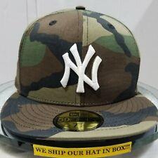 New York Yankees~MLB~New Era~59FIFTY~Genuine~Basic WDS~Camo with White Logo